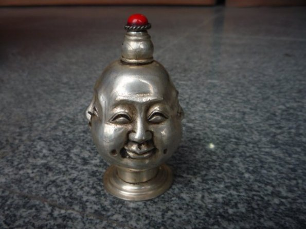 Buddha Snuff Bottle Silver