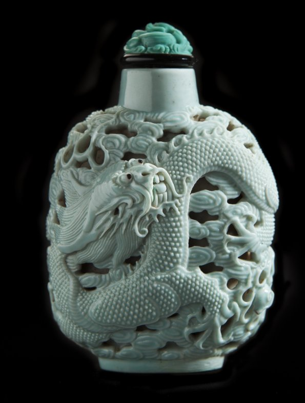 Chinese Snuff Bottle with Dragon