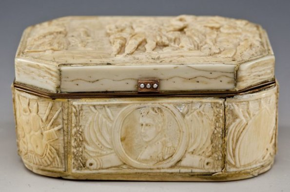 French Napoleon Ivory Snuff Box