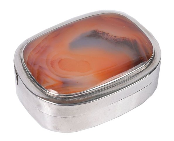 George III Silver and Agate Snuff Box c1800