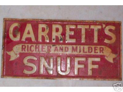 Garretts Enamel Sign 2