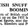 Snuff Exports Booming  1964